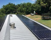 East West Direction Solar panel installation