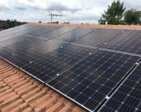 Mono Solar Panels Installed on Tile Roof