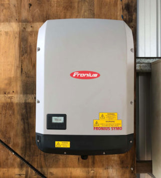 Fronius Inverter Installed on a Timber Wall